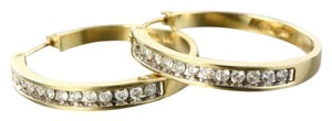 Diamond Hoop Earrings Diamond Hoop Earrings set in 14K Yellow Gold