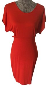 Forever 21 contempory short dress red/orange Fitted on Tradesy