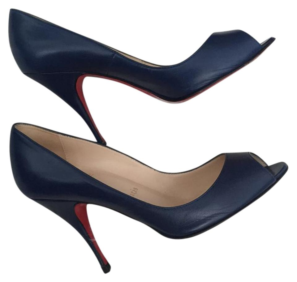 ladies Christian Louboutin Dark and Blue Pumps High quality and Dark economy 5df71b