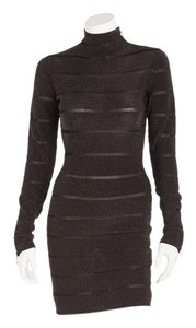 Balmain Zippers Mesh Longsleeve Dress