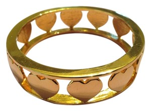 nOir Gold Heart Bangle