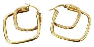 Gold Designer Earrings. 18K Gold Earrings