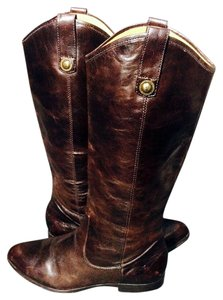 Frye 77802 Cindy Pull On Motorcycle Size 6.5 Brown Boots