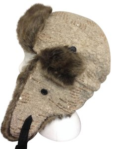 Mudd Bomber Style Faux Fur And Sequin Hat