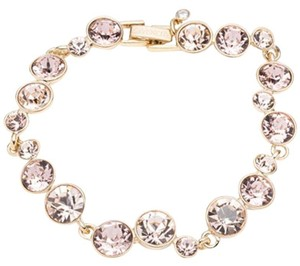 Givenchy Swarovski elements multi color rose crystals sets in gold tone bracelet