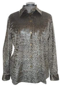 Fred David Top Leopard Print