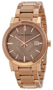 Burberry Rose Dial Rose Gold-tone Ladies Watch BU9034