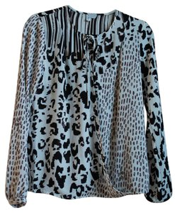 CAbi Cheetah Print Zebra Print Top Animal Print