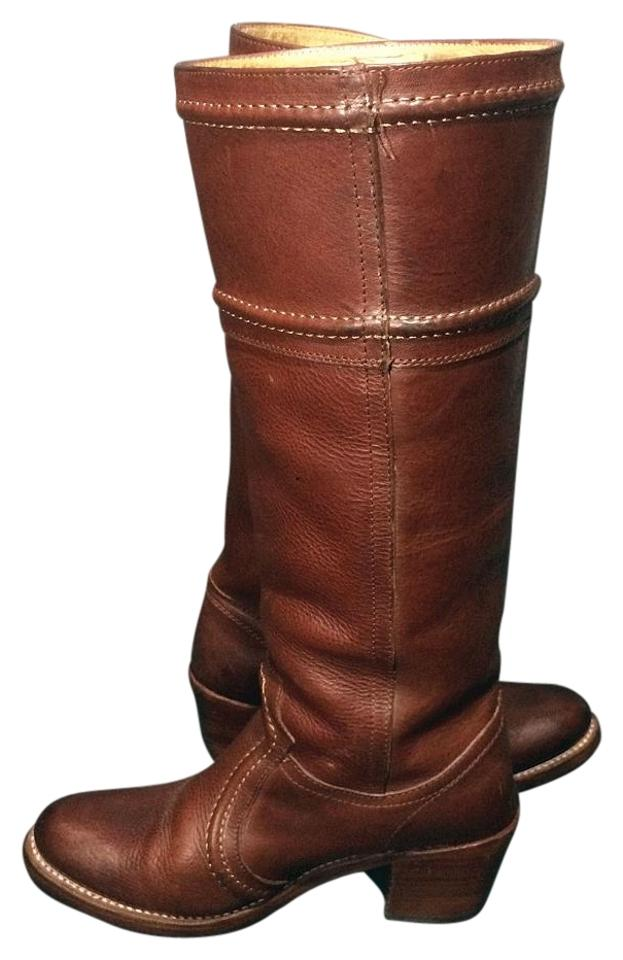 8354f89fba5d Frye Brown 77230 Jane 14l Leather Riding Motorcycle Women s Boots Booties