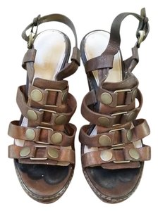 Coach Mallorie Platform Strappy Bronze Wedges
