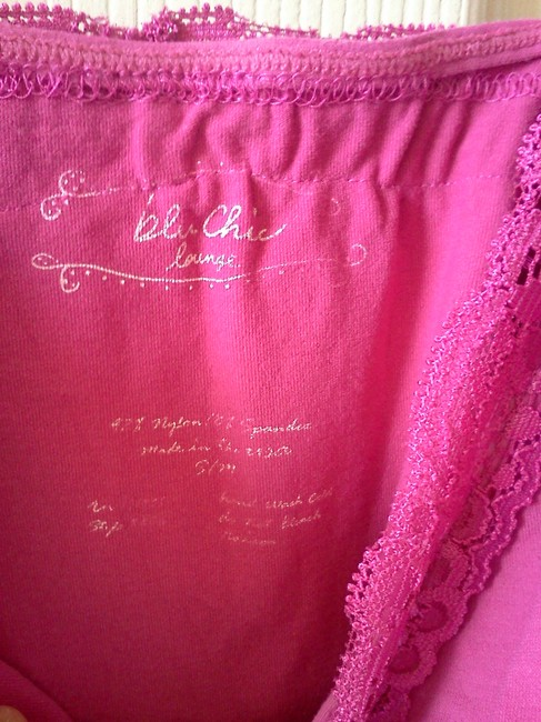 Blu Chic Lace Top Hot Pink Image 1