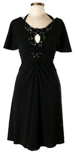 Badgley Mischka Embellished Keyhole Dress
