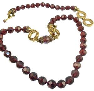 Heidi Daus Heidi Daus Faceted Purple Glass Necklace & Bracelet Set