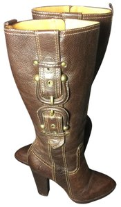 Frye 77471 Heidi Buckle Motorcycle Size 7.5 Brown Boots
