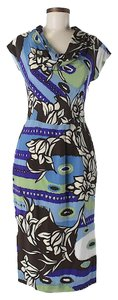 Escada Silk Floral Shift Sheath Dress