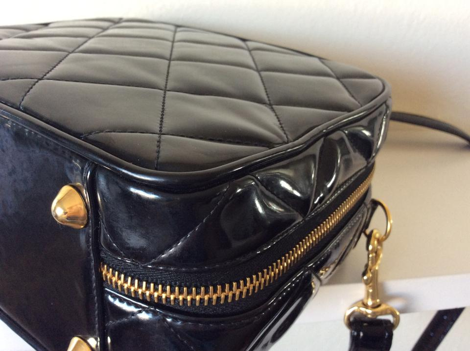 a1aa32d9424e Chanel Box Rare Vintage 2 Way Lunch Black Patent Leather Shoulder ...