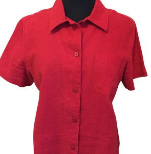 Norton McNaughton Button Down Shirt Red