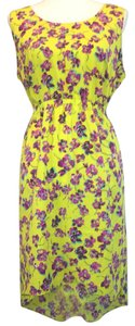 Daisy Fuentes short dress Yellow/Pink/Purple/Floral Floral Spring Summer on Tradesy