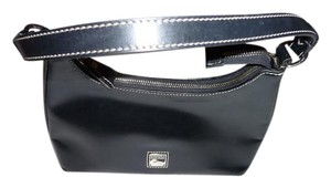 Dooney & Bourke Patent Leather Tote in Black and White