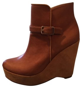 Stella McCartney Wedge Neutral Tan Boots