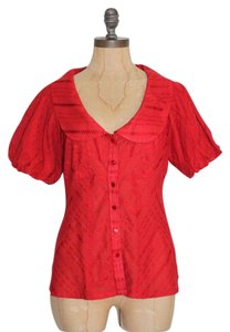 Anthropologie Odille Top RED