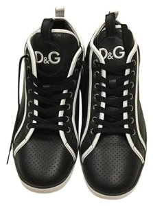 Dolce&Gabbana Black perforated leather Athletic