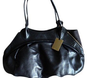 Furla Leather Side Zippers Shoulder Bag
