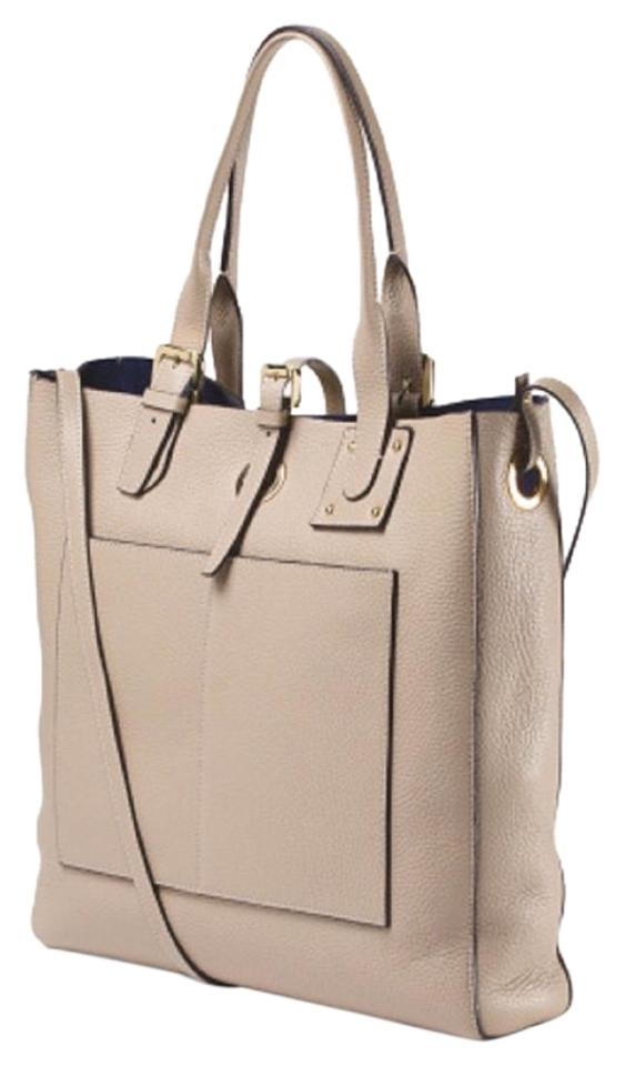 Vittoria Napoli Nwt Handbag Made In Italy Leather Tote Color Taupe