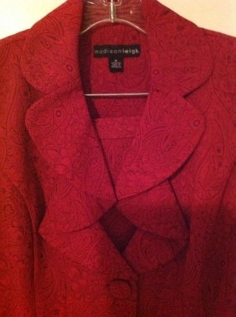 Madison Leigh Cranberry suit