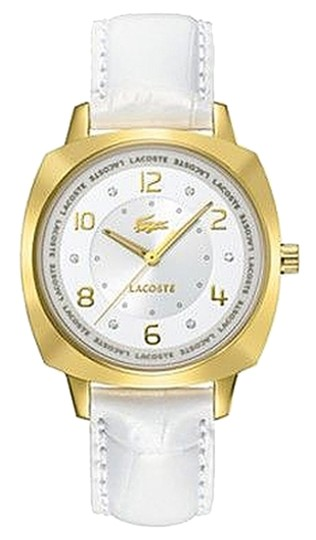 Preload https://item1.tradesy.com/images/lacoste-gold-tone-female-dress-2000604-white-strap-analog-watch-1642115-0-0.jpg?width=440&height=440