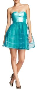 Betsey Johnson Formal Cocktail Faux Leather Dress