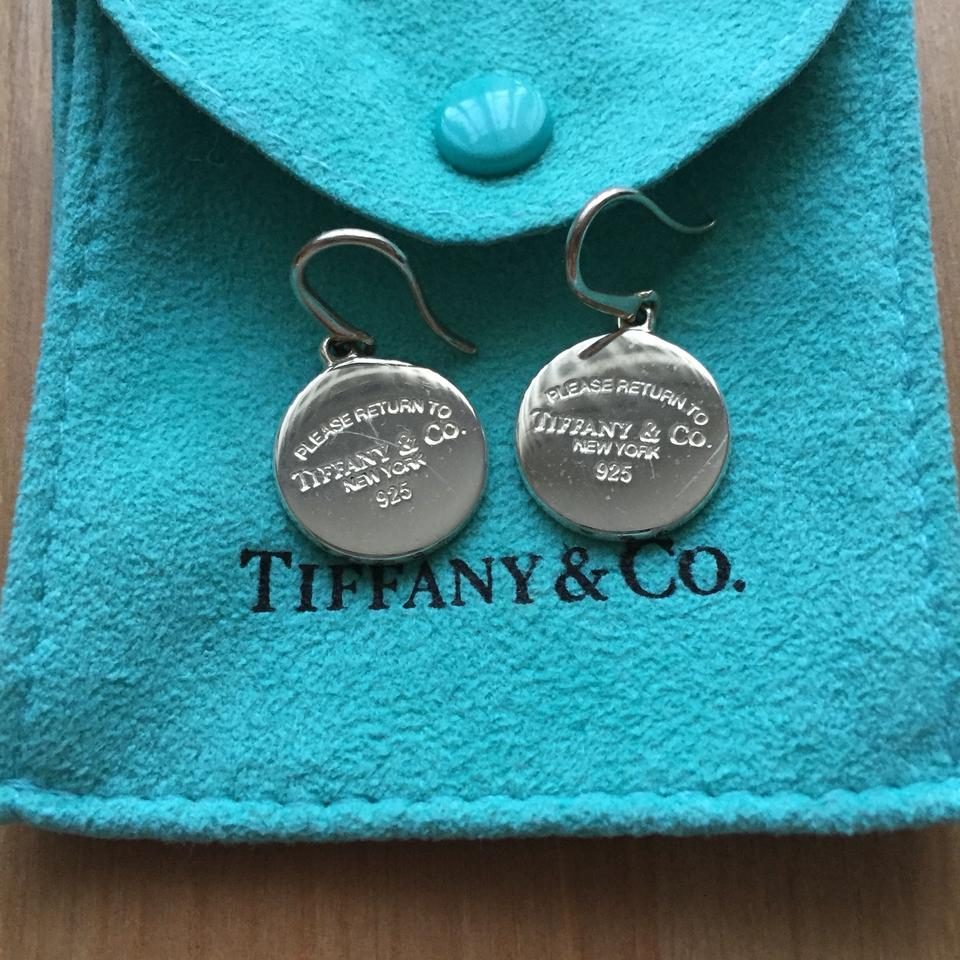 2514a9a1cb0f8 Tiffany & Co. Sterling Silver Return To Round Tag Drop Earrings 54% off  retail