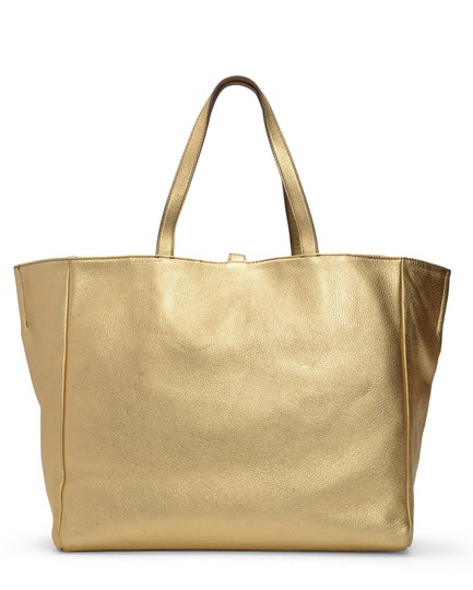 Juicy Couture Tote in Gold with Reversed Side Snake Print Image 2