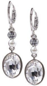 Givenchy Swarovski elements rose crystals sets in gold tone earring