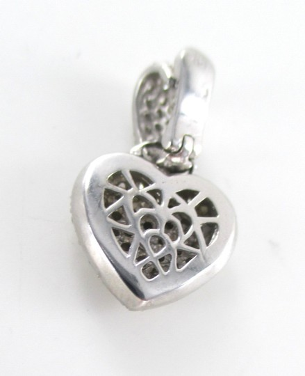 Other 18KT WHITE GOLD 79 DIAMONDS 1.50 CARAT PAVE HEART PENDANT 5.1 GRAMS LOVE JEWELRY