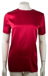 Chanel Shirt Silk Top Red