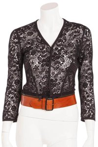 Jean-Paul Gaultier Belt Crochet Top Black