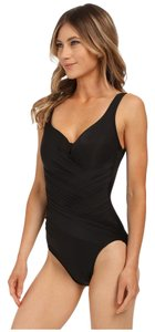 Miraclesuit Miraclesuit Must Haves Gandolf One Piece Black Swimsuit Size 14