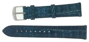 Michele MS18AA510470 Michele 18mm Blue Alligator Leather Watch Band Strap