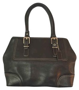 Coach Structured Medium Sized Satchel in Black