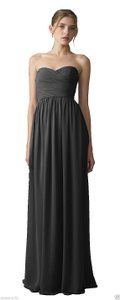 Monique Lhuillier Black Monique Lhuillier Bridesmaid Dress - Style: 450017; Fabric: Chiffon; Color: Charcoal; Dress