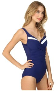 Miraclesuit Miraclesuit New Sensations Color Block Escape Swimsuit Marine Size 10