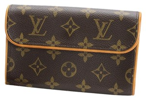 Louis Vuitton Lv Handbag Florentine Euc Brown Clutch