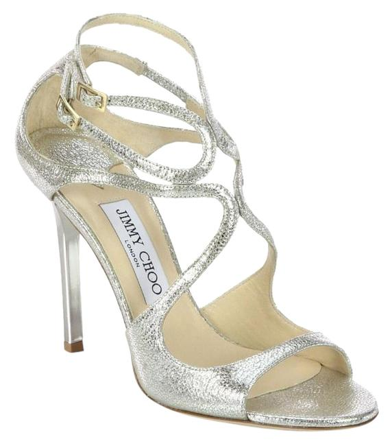 Item - Silver Lance Leather Wedding Heel Sandals Made In Italy Formal Shoes Size US 5.5 Regular (M, B)