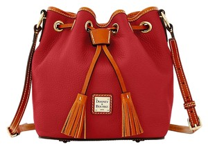 Dooney & Bourke Red Leather Kendall Satchel in Wonderful Wine