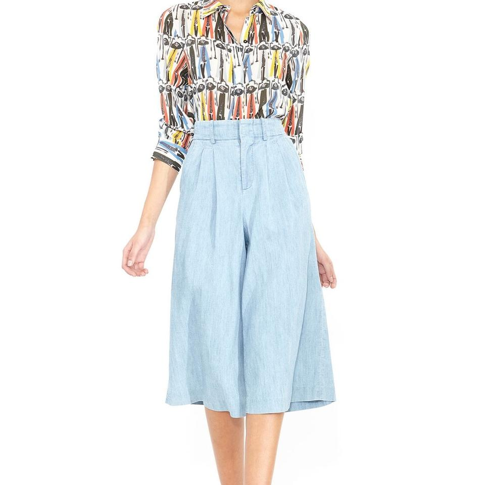 9d333848d8f616 Alice + Olivia Donal Robertson Print Willa Placket Button-down Top ...