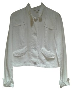 CAbi White linen Jacket