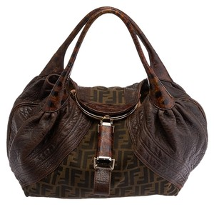 Fendi Spy Tortoise Limited Edition Zucca Tote in Brown
