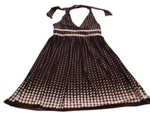 London Times short dress Brown and white polka dot on Tradesy