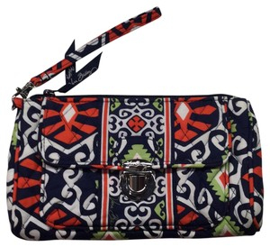 Vera Bradley Wristlet in Orange, Blue, White, Lite Green